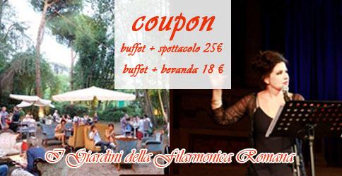 Cena all'aperto estate romana: I giardini della Filarmonica