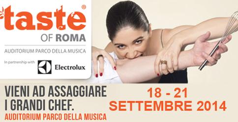 """""""Taste of Roma 2014″ dal 18 settembre all'Auditorium di Roma"""